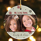 Photo Memories Personalized Ornament