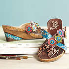 St. John's Hand Painted Leather Slide Sandals