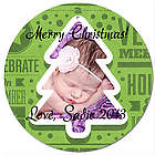 Personalized Photo Green Tree Christmas Ornament