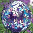Purple Mosaic Gazing Ball