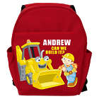 Toddler's Personalized Bob the Builder Scoop Backpack in Red