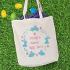 Personalized Bunny Wreath Easter Tote