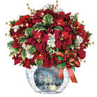 Thomas Kinkade Bringing Christmas Cheer Centerpiece