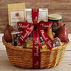 Best With Wine Gift Basket with Thank You Ribbon