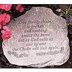 """Our Family Chain is Broken"" Memorial Garden Stone"