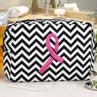 Pink Ribbon Chevron Cosmetic Bag