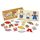 Wooden Bear Family Dress-Up Toy Puzzle