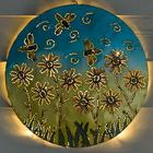 Lighted Fliers Recycled Oil Drum Lid Wall Art