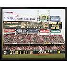 Cincinnati Reds Personalized Scoreboard 16x20 Framed Canvas