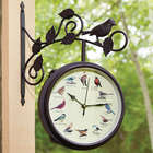 Serenading Songbirds Outdoor Clock