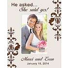 She Said Yes Personalized Picture Frame
