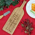Family Sharing Word-Art Wine Bottle Cutting Board