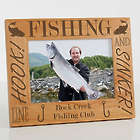 Fishing Personalized Wood Picture Frame