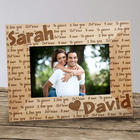 Personalized I Love You Wood Picture Frame