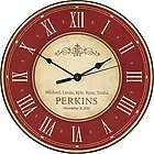 Family's Personalized Roman Numerals Wall Clock