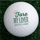 Fore My Sweetheart Personalized Golf Balls