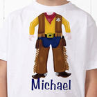 Cowboy or Baseball Player Personalized Boy's T-Shirt