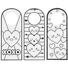 24 Color Your Own Fuzzy Valentine Doorknob Hangers Craft