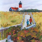 Nauset Lighthouse Cape Cod National Seashore Art Print