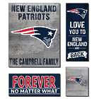 Personalized New England Patriots Love Mega Canvas Prints