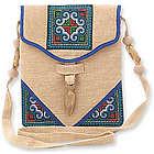 Midnight Blossom Hemp Shoulder Bag