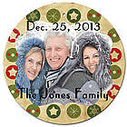 Festive Circle Christmas Ornament with Personalized Photo