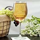 Wine A Bit Personalized Wine Glass