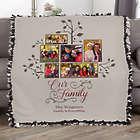 "Custom Photo Family Tree 50"" x 60"" Tie Blanket"
