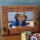 Personalized Baby's First Wooden Picture Frame