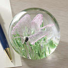 Butterfly Glow in the Dark Glass Paperweight