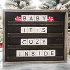 """Changeable Letter Board 15"""" x 13"""" Black Square Decoration"""