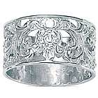 Silver Filigree Band Ring