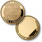To Serve and Protect Engraved Police Keepsake Coin