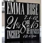 New Baby's Personalized Square Wooden Plaque