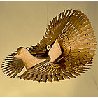 Regal Dove Wood Carving
