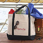 Weekend Getaway Embroidered Tote Bag