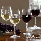 Engraved Monogram Wine Glasses