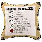 Funny Dog Rules Throw Pillow