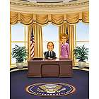Mr. President and First Lady Caricature from Photos