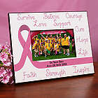 Breast Cancer Awareness Pink Ribbon Printed Frame