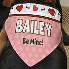 Be My Valentine Personalized Dog Bandana