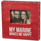 My Marine Makes Me Happy Wooden Picture Frame
