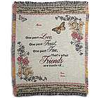 Personalized Sisters, Cousins or Friends Throw