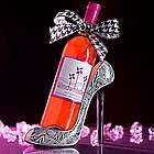 Girl's Best Friend Red Moscato in Zebra Print Shoe Wine Holder