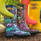 Women's Printed Tall Rain Boots