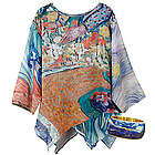 Van Gogh Gallery Tunic with Starry Night Bangle Cuff Bracelet