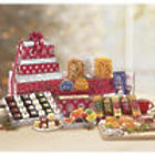 Red and Silver Snacks and Sweets Gift Tower