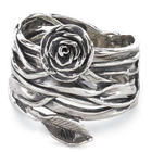 Wrapped Rose on the Vine Ring in Sterling Silver