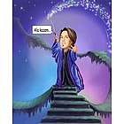 Enchanted Wizard Caricature from Photo