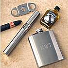 Four Piece Flask & Cigar Holder Gift Set